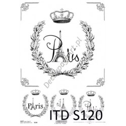 Papier do decoupage ITD SOFT 120 - Paris