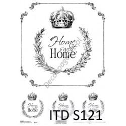 Papier do decoupage ITD SOFT 121 - Home Sweet Home