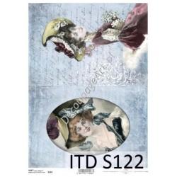 Papier do decoupage ITD SOFT 122 - Damy