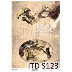 Papier do decoupage ITD SOFT 123 - Damy