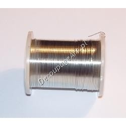 Drut jubilerski mosiężny srebrny 0,3 mm/10 m
