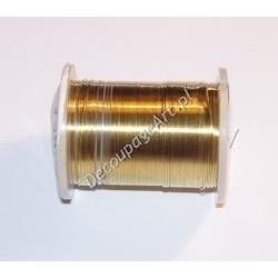 Drut jubilerski mosiężny złoty 0,3 mm/10 m