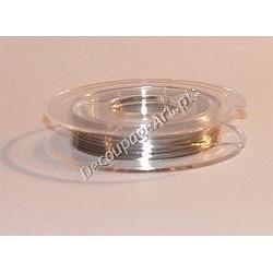 Drut jubilerski miedziany srebrny 0,3 mm/10 m