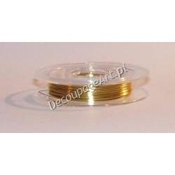 Drut jubilerski miedziany złoty 0,3 mm/10 m