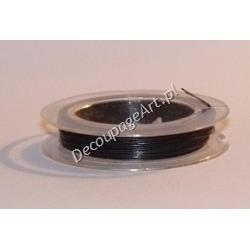 Linka jubilerska stalowa czarna 0,38 mm/10 m