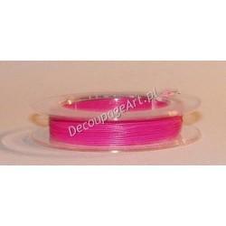 Linka jubilerska stalowa ciemno-różowa 0,38 mm/10 m