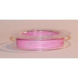 Linka jubilerska stalowa jasno-różowa 0,38 mm/10 m