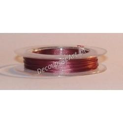 Linka jubilerska stalowa ciemno-brązowa 0,38 mm/10 m