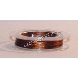 Linka jubilerska stalowa brązowa 0,38 mm/10 m