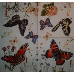 Serwetki do decoupage - cudne motyle