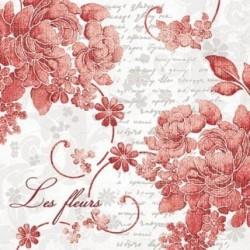 Serwetki do decoupage - Les fleurs rouge