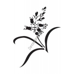 Szablon 15x20 cm - 068 kwiatek