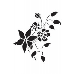 Szablon 15x20 cm - 077 kwiaty