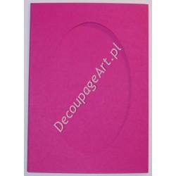 Kartka passe-partout oval pink
