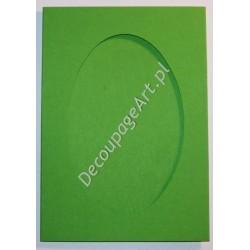Kartka passe-partout oval jasno-zielony