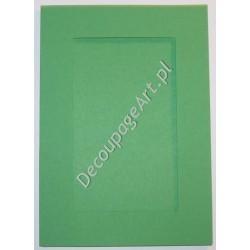 Kartka passe-partout prostokąt szmaragdowo-zielony