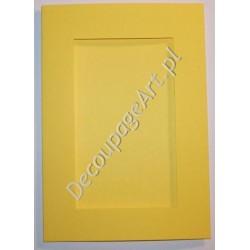 Kartka passe-partout z fakturą prostokąt żółta