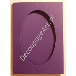 Kartka passe-partout z fakturą oval fiolet