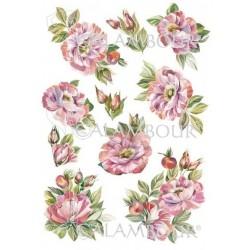 Papier ryżowy Calambour 10 - Różowe kwiaty
