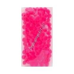 Pompony akrylowe 10 mm pink 100 szt