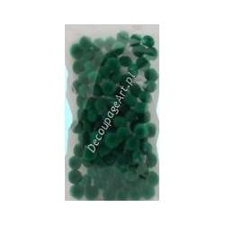Pompony akrylowe 10 mm zielone 100 szt