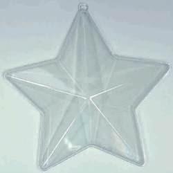 Bombka - gwiazda transparentna pięcioramienna 100 mm