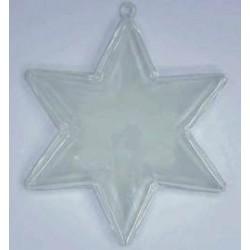 Bombka - gwiazda transparentna sześcioramienna 100 mm