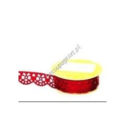 Bordiura samoprzylepna z brokatem czerwone kokardki