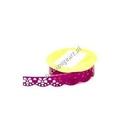 Bordiura samoprzylepna z brokatem fioletowe kokardki