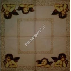 Serwetki do decoupage - Aniołki Raphaelki