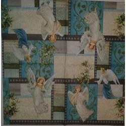 Serwetki do decoupage - Anioły w błękitach