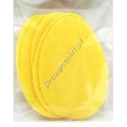 Jajka z filcu - duże żółte