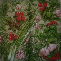 Serwetki do decoupage - zioła i czosnek