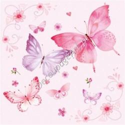 Serwetki do decoupage - różowe motyle