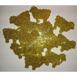 Baranki z mikrogumy brokatowej - złote