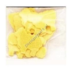 Baranki z filcu - żółte