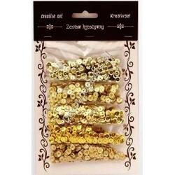 Zestaw kreatywny cekiny metaliczne złote