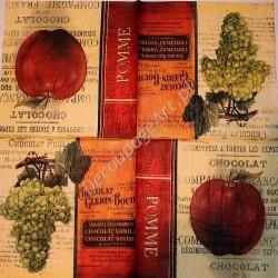 Serwetki do decoupage - winogrona i jabłko