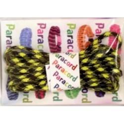 Paracord Parachute cord 550 two-tone 9014 czarno-żółty 2,8 m