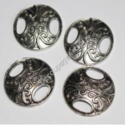 Łączniki okrągłe metalowe 25 mm 4 szt.