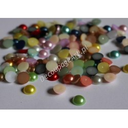 Elementy dekoracyjne półperełki 10 mm mix kolorów