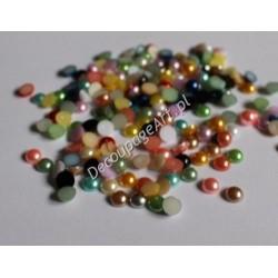 Elementy dekoracyjne półperełki 8 mm mix kolorów