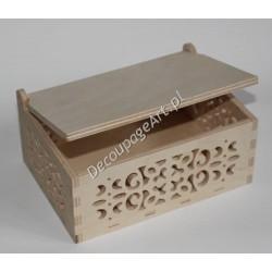 Pudełko ażurowe drewniane 06