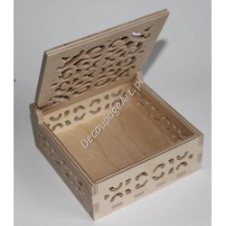 Pudełko ażurowe drewniane 15