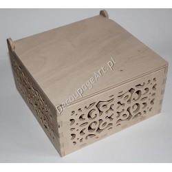 Pudełko ażurowe drewniane 26