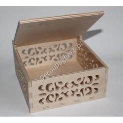 Pudełko ażurowe drewniane 27