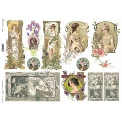 Papier do decoupage ITD SOFT A3 006 - Damy vintage
