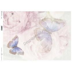 Papier do decoupage ITD SOFT A3 011 - Pastelowe motyle