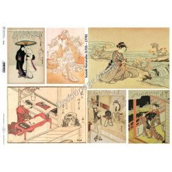 Papier do decoupage ITD SOFT A3 016 - Japonia