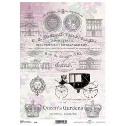 Papier do decoupage ITD SOFT 249 - Queen's Garden